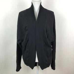 Hard Tail Cotton Open Front Cardigan Sweatshirt